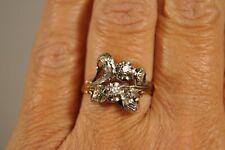 BAGUE ANCIENNE OR MASSIF 18K DIAMANT ART NOUVEAU ANTIQUE DIAMOND SOLID GOLD RING