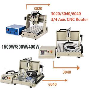 USB 3/4 axes CNC Routeur fraiseuse Graveur Machine À faire 6040/3040/3020 EU FR