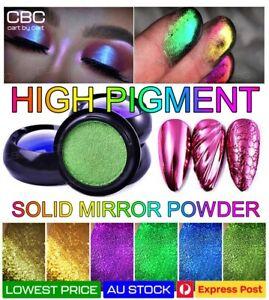 Solid Nail Art Powder Mirror Metal Duo Chrome HIGH Pigment Glitter Multicolor AU