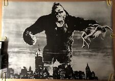 Original Vintage Poster King Kong Empire State Building 1960s gorilla woman
