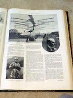 End of World War LE MONDE iLLUSTRE Bound Illustrated Magazine1921-helicopter