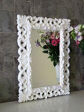 Wandspiegel Weiß Barock Modern Flurspiegel Friseurspiegel 72x52  Spiegel Mirror