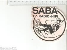 ADESIVO ANNI '70/'80 - SABA TV-RADIO-HIFI ARANCIONE  - VEDI FOTO