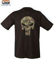 BTP Punisher Táctica Militar Estilo Manga Corta Camiseta AIRSOFT ARMY