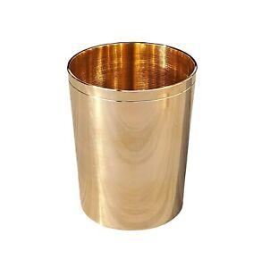 Bronze Kansa Glass Handmade, 1 Piece, 200 Ml, Gold, free shipping