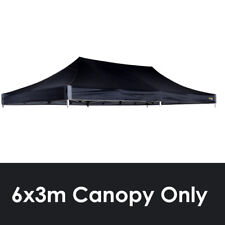 OZTRAIL 6x3m (BLACK) CANOPY ROOF DELUXE GAZEBO REPLACEMENT PAVILION COVER TOP