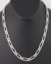 Necklace Mexico Fine 925 2515B Sterling Silver Curbed Links Chain