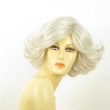 Perruque femme blanche cheveux lisses ref JEANNETTE 60