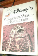 DISNEY'S WONDERFUL WORLD OF KNOWLEDGE #6 BIRDS, FISH, AND INSECTS 1973 HC