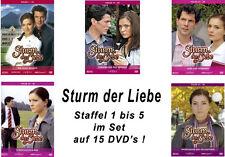 15 DVDs * STURM DER LIEBE  -  STAFFEL 1 - BOX 1 - 5  IM SET  # NEU OVP %