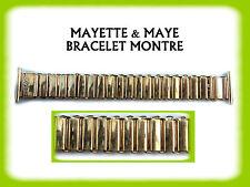 BRACELET MONTRE RÉGLABLE PLAQUÉ OR 20 mm REF.A467