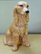 "Ceramic Irish Setter Hunting Dog Figurine Figure Statue 14"" signed"