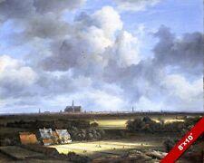 HAARLEM & BLEACHFIELDS NETHERLANDS LANDSCAPE PAINTING ART REAL CANVAS PRINT