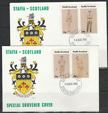 GB Locals - Staffa 3548 - 1981 GOLF set of 4 on 2 covers with FIRST DAY CANCELS