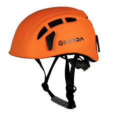 Safety Helmet Rock Tree Climbing Caving Rescue Head Protector Orange