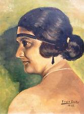 Ewald Becker-Carus 1902-1995 Hamburg / Gemälde Porträt einer eleganten Dame 1928