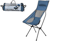 NEW! Summit High Back Chair | Folding Chair | Camping | Fishing |Outdoor | Blue