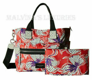 MARC JACOBS DIAPER BAG RED SPOTTED LILY PRINTED BIKER BABYBAG $320