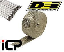"DEI Titanium Heat Exhaust Wrap & Stainless Steel Tie Kit 2""x50FT Roll"