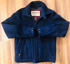Vintage Abercrombie Men's Navy Blue Wool Nylon Jacket Size Small S