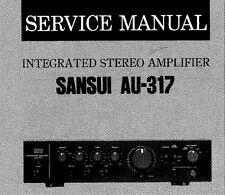 SANSUI AU-317 Stéréo intégrés service Amp Manuel Inc SCHEM diag Imprimé ENG