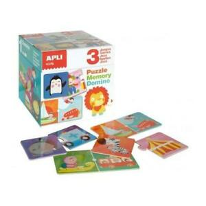 NEW Apli Kids Activity Cube - Puzzle, Memory and Domino Games - 3 in 1