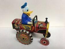 Donald Duck ~ Disney Marx Toys Tin Wind Up Dipsy Car ~ Vintage 1950s