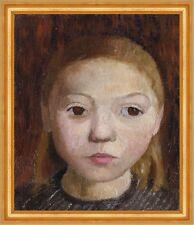Head of a Girl Paula Modersohn-Becker Mädchen Kinder Kopf Gesicht B A3 03051