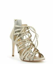 ZOMP Gold Dust Lace Up Heels - Size 38.5