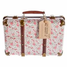 Sass & Belle Vintage Large Floral Suitcase Storage Box Suit Case 39cm