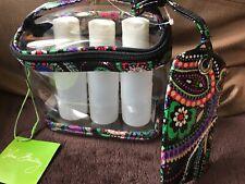 VERA BRADLEY Lighten Up Travel Duo KIEV PAISLEY Luggage Tag & Clear Cosmetic Bag
