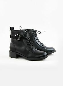 Evans Womens Extra Wide Fit Black Buckle Strap Boots Winter Shoes Comfort
