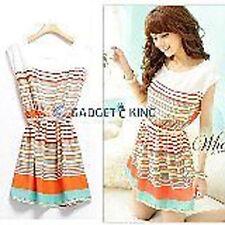Chiffon Summer Striped Dresses for Women