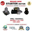 pour Opel OPEL ASTRA F 1.4i+16V 1991-2001 Neuf Démarreur 1.4kW 10 dents