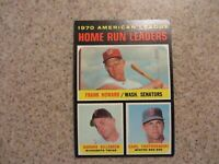 TOPPS 1970 AMERICAN LEAGUE HOME RUN LEADERS HOWARD, KILLER AND YAZ  CARD # 65