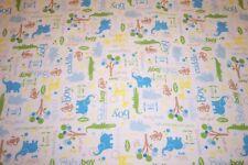 Baby Boy Flannel Blanket Receiving Swaddling Jungle Animals Handmade