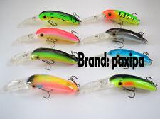 Lot 8 Paxipa Fishing Lures Minnow Crankbait Bass Bait Treble hooks 21g 12cm