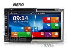 Autoradio 2 DIN 7'' FHD 1080p Touchscreen Navigatore GPS DVD BT NAVI USB SD CD