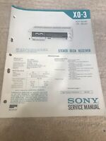 SONY Service manual X0-3 For Stereo Deck Receiver