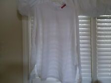 WHITE RAPALA MOCK NECK T-SHIRT LONG SLEEVES LARGE