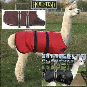 Waterproof Coat for Alpaca or Llama - Black Red Brown - All Sizes
