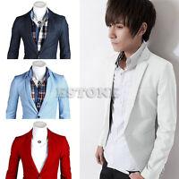 Men's Casual Slim Fit One Button Suit Blazer Coat Jacket Tops New Stylish
