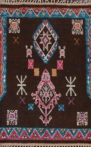 Tribal Geometric Moroccan Oriental Area Rug Hand-knotted Plush Wool Carpet 6x10