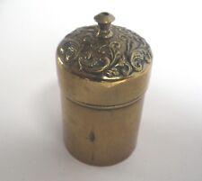 c.1890 Victorian Brass Go To Bed Vesta Case Vesta Light Box D36