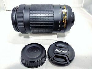 Nikon AF-P Nikkor 70-300mm f/4.5-6.3G ED AF Only Telephoto Lens Excellent Cond.