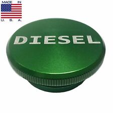2013-2017 Dodge Ram Aluminum Green Diesel Fuel Cap Lid Magnetic MADE IN USA
