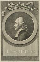 CHODOWIECKI (1726-1801). Portrait von Johann August Hermes; Druckgraphik