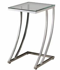 Modern Chrome Accent Side Table