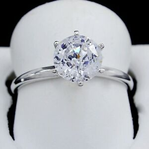 Summer 2.00 CT ROUND CUT SOLITAIRE ENGAGEMENT RING SOLID 14K WHITE GOLD