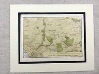 1886 Antik Aufdruck Karte Der Schlacht Sempach Leopold III Duke Von Österreich